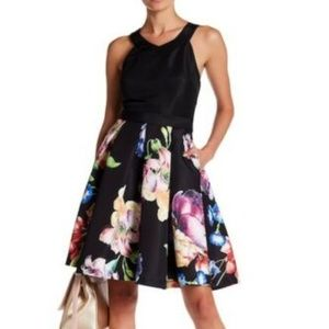 Ted Baker Ilusia Tapestry Pleated Fit & Flare 6
